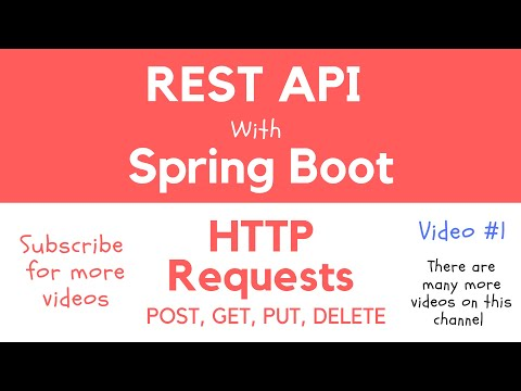REST API with Spring Boot - Handle HTTP Requests: POST, GET, PUT, DELETE