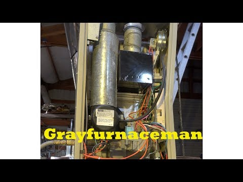 Snyder General Intercity products GUA model gas furnace