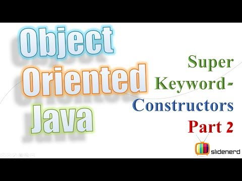 53 Java Super Keyword Example Calling Superclass Constructors Part 2 |