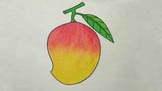 How To Draw Mango Fruits Drawing Master Visuraam Kalavum Katru