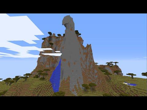 Minecraft village seed 1.8.3 extreme savanna mountain with three diamonds