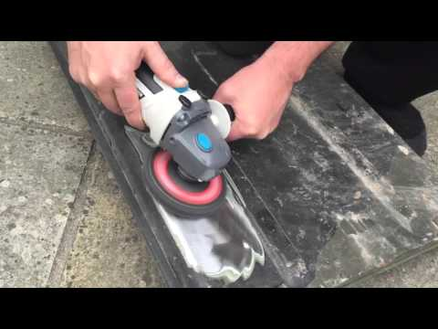Testing Poly Disks on the angle grinder for paint stripping the VW 1