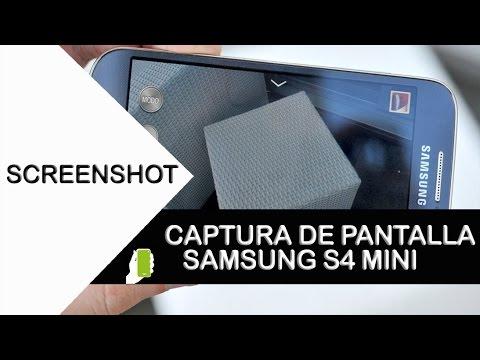 Samsung Galaxy S4 Mini ScreenShot  O Captura de Pantalla