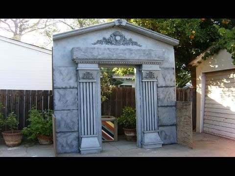 Make A Mausoleum Halloween Facade - DIY Cemetery Crypt