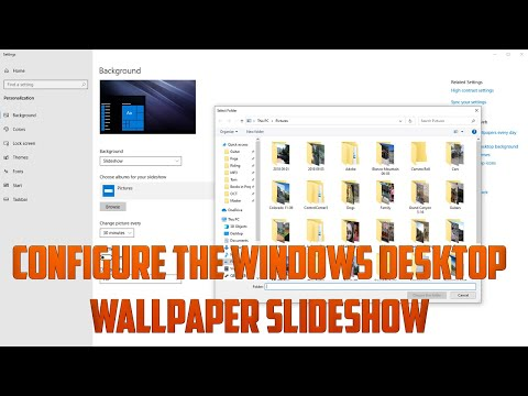 Configure the Windows Desktop Wallpaper Slideshow