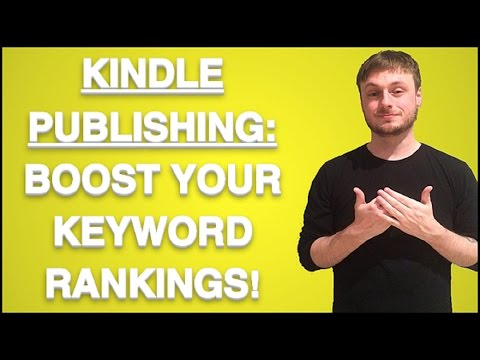 Kindle Publishing: Boost Your Keyword Rankings Quick Tip!!!