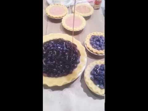 Making a Blueberry pie @Melissascandlebakery