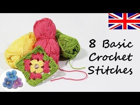 How to make 8 Basic Crochet Stitches DIY Knitting Different Crochet Stitches Mathie