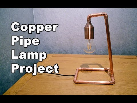 The Copper Pipe Lamp Project | How I made a copper tube lamp with 15mm copper pipe