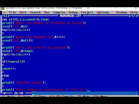C Program to count the number of occurrences of an element in an array