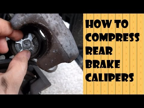 Compression tool for Rear disc brakes