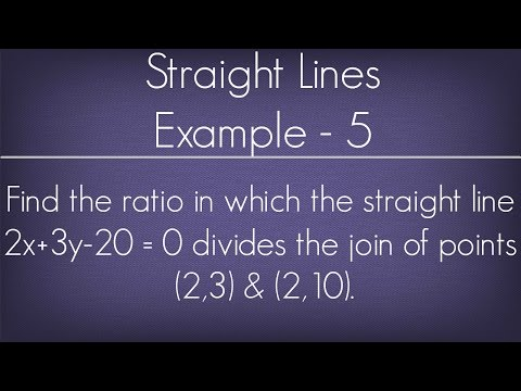 Straight Lines Example - 5 l Maths Geometry