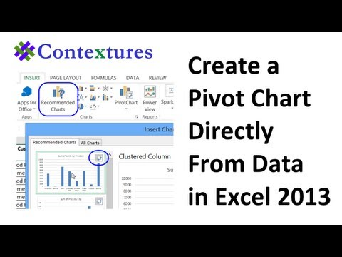 Create Pivot Chart Directly from Data in Excel 2013