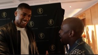 WHEN ANTHONY JOSHUA MET FLOYD MAYWEATHER JR! (FOOTAGE)