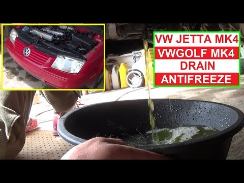 How to Drain the Antifreeze Coolant on VW JETTA ML4 GOLF MK4 1999 - 2005