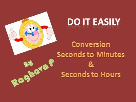 Excel: Convert Seconds to Minutes & Seconds to Hours