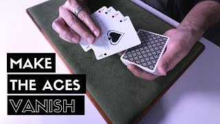Make all 4 Aces VANISH | Card Trick Tutorial [HD]