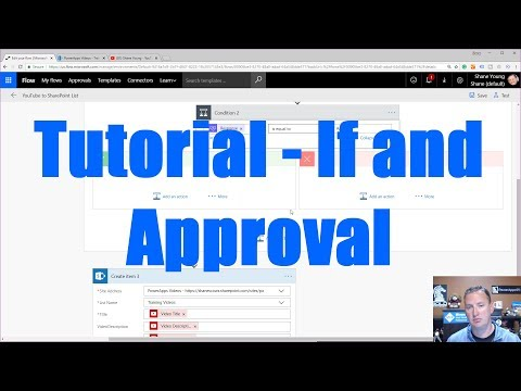 Microsoft Flow Tutorial - If and Approve