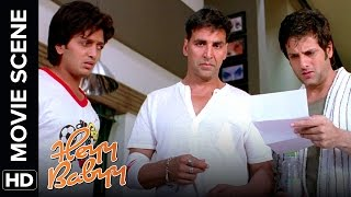 Akshay finds a baby at his doorstep | Heyy Babyy | Movie Scene