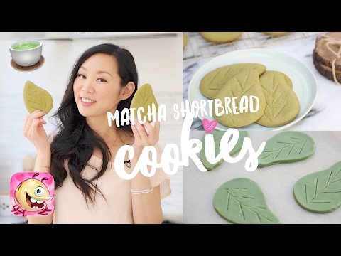 Matcha Shortbread Leaf Cookies ♥ 5 Simple Ingredients!