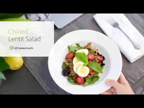 Chilled lentil salad