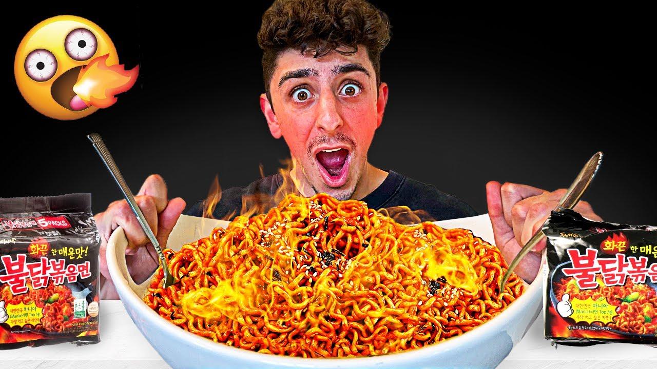 Eating the Worlds SPICIEST Noodles - Korean Noodle Challenge
