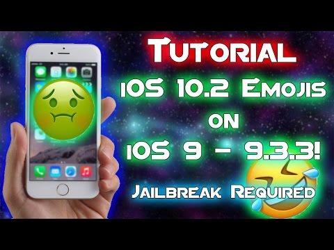 Tutorial: HOW TO GET IOS 10.2 EMOJIS ON iOS 9 - 9.3.3 | Windows/Mac