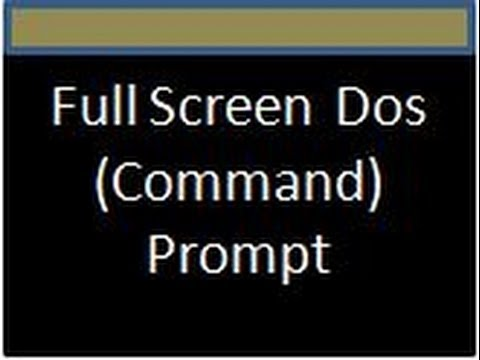 How to get DOS Command Prompt in XP with full screen ?