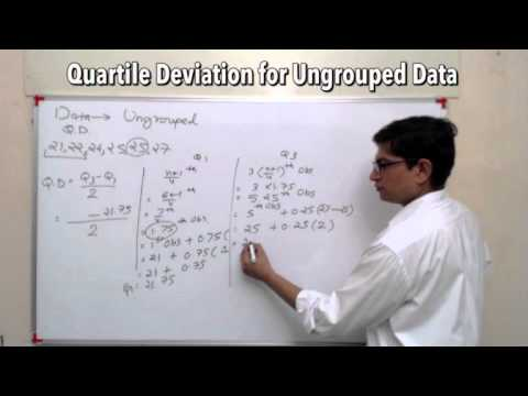 Statistics for GS- Ungrouped Data How to find Quartile Deviation