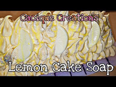 Lemon Cake Soap - Cold Process - DIY - How To - Soap Making