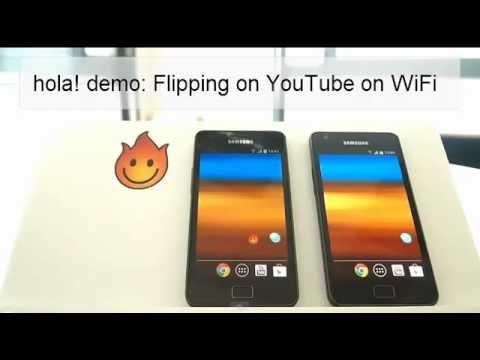 Hola demo: Flipping through YouTube