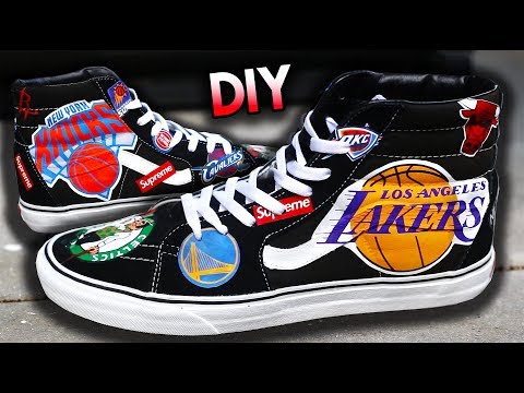 HOW TO: NBA X SUPREME SS18 LOGO YOUR SHOES USING HEAT TRANSFERS ! NO PAINT REQUIRED! EASY NEW METHOD