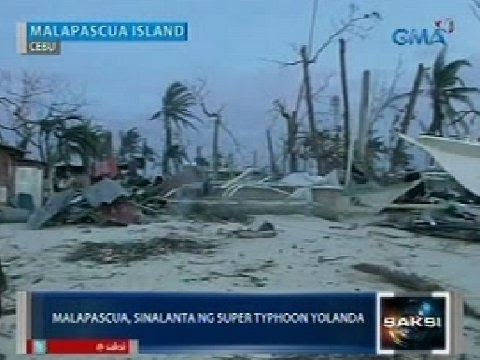 Saksi: Malapascua Island sa Cebu, sinalanta rin ng Super Typhoon Yolanda