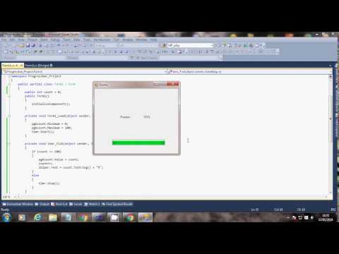 How to use Progressbar in c# net