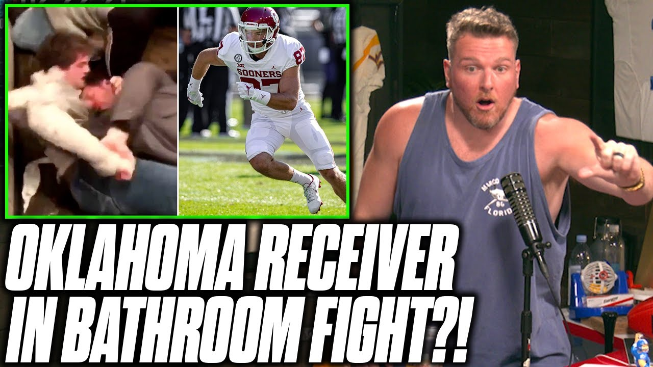 Pat McAfee Reacts To Oklahoma's Spencer Jones Bathroom Fight Video
