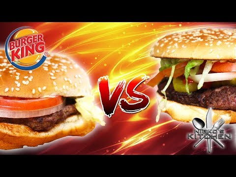 BURGER KING WHOPPER vs HOMEMADE - The results will SHOCK you!