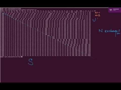 Selection sort analysis - Quadratic comparison, linear exchange
