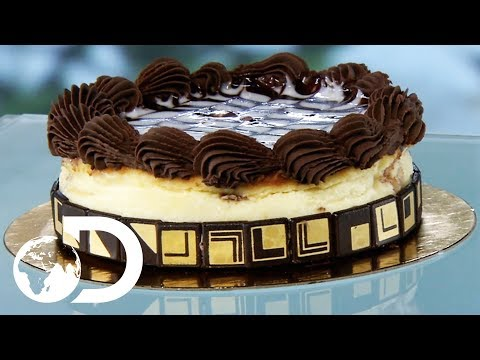 CHOCOLATE MARBLE TRUFFLE CAKE | How It's Made