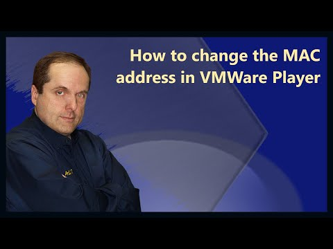 How to change the MAC address in VMWare Player