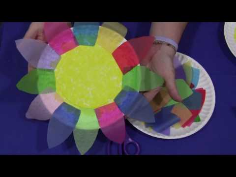 Paper Plate and Tissue Paper Flower