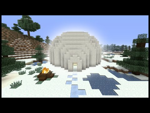 Minecraft Tutorial: How To Make An Igloo (Biome House)