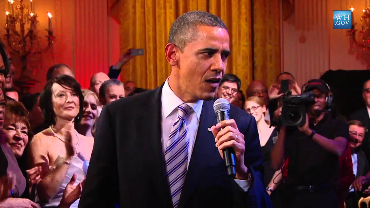 """President Obama Sings """"Sweet Home Chicago"""""""