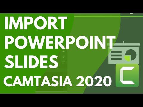 Camtasia 9/3: Import PowerPoint Slides