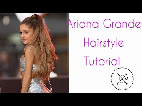 Ariana Grande High Ponytail Hairstyle Tutorial