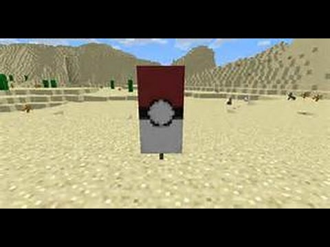 How to make a poke-ball banner in Minecraft