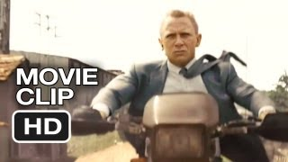 Skyfall Blu-ray CLIP - Motorbike Chase (2012) - James Bond Movie HD