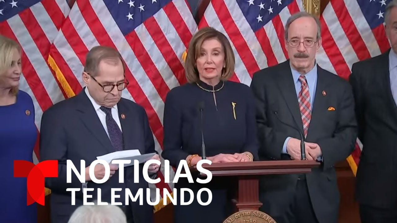 Rueda de prensa de Nancy Pelosi tras la votación para iniciar el juicio político contra Trump