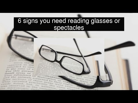 6 signs you need reading glasses or spectacles