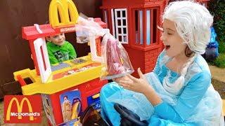 Princess with Baby Doll at  McDonald