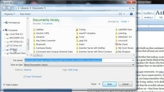 How to Save a Word File to a Flash Drive : Computer Help & Tips